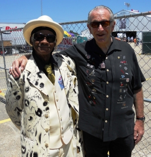 LITTLE FREDDIE AND CHARLIE TALK BACKSTAGE AT JAZZFEST 2011 - FIRST TIME MEETING EACH OTHER ON A GIG.